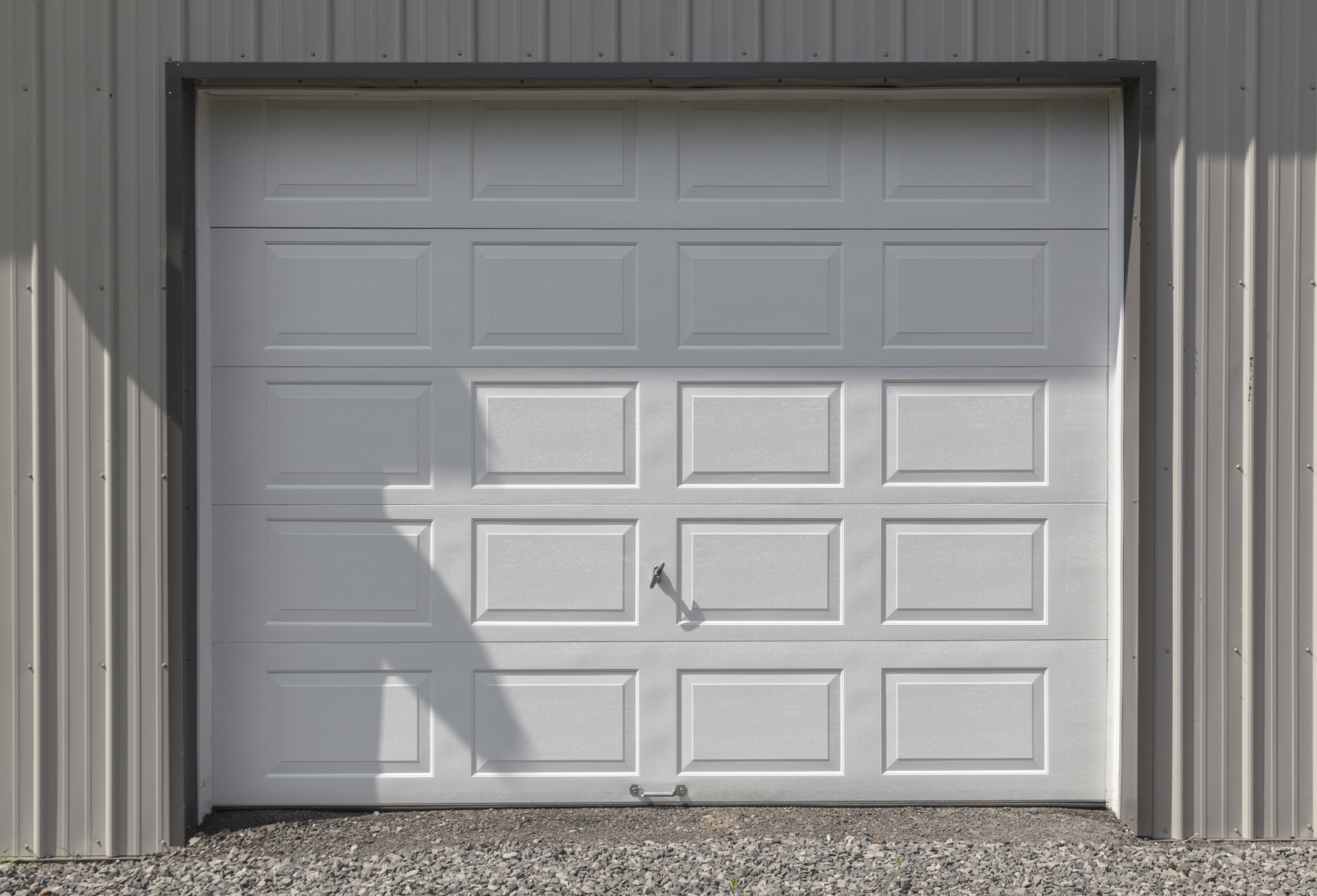 White Garage Door